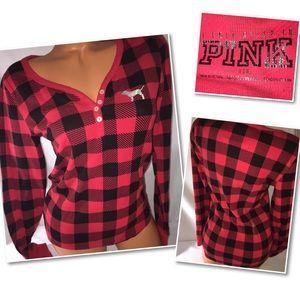 VS PINK long sleeve thermal top shirt LARGE